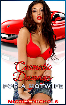 cover design for the book entitled Cosmetic Damage For A Hotwife
