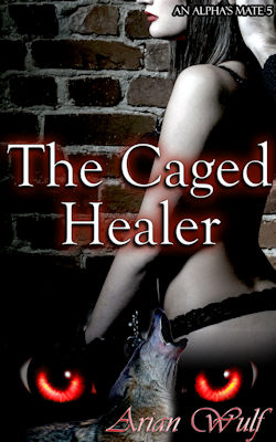 cover design for the book entitled The Caged Healer