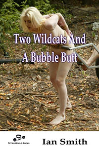 cover design for the book entitled Two Wildcats and a Bubble Butt