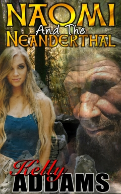 cover design for the book entitled Naomi And The Neanderthal