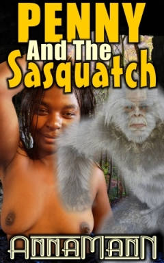 cover design for the book entitled Penny And The Sasquatch