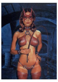 Leather Girl With Whip