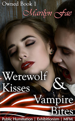 cover design for the book entitled Werewolf Kisses & Vampire Bites