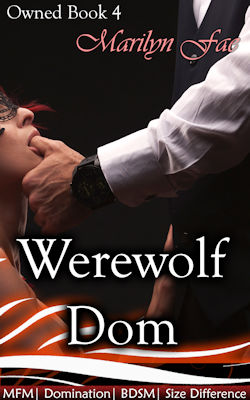 cover design for the book entitled Werewolf Dom
