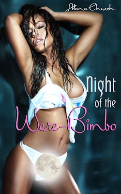 cover design for the book entitled Night Of The Were-Bimbo
