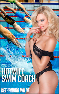 cover design for the book entitled Hotwife Swim Coach