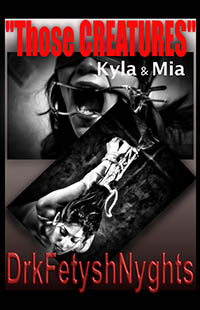 "cover design for the book entitled ""THOSE CREATURES"" Kyla & Mia"
