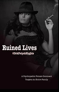 cover design for the book entitled RUINED LIVES