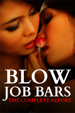 cover design for the book entitled Blowjob Bars: