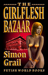 cover design for the book entitled The Girlflesh Bazaar