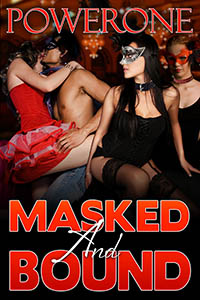 cover design for the book entitled Masked and Bound
