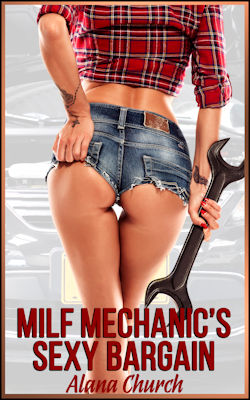 cover design for the book entitled MILF Mechanic
