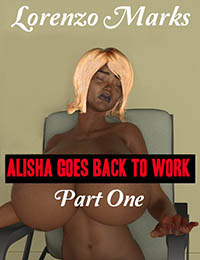 cover design for the book entitled Alisha Goes Back to Work Part One