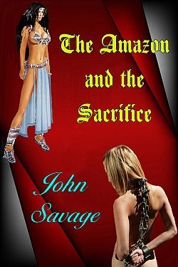 cover design for the book entitled The Amazon and the Sacrifice
