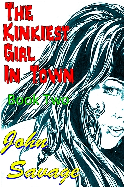 cover design for the book entitled The Kinkiest Girl in Town 2