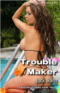 cover design for the book entitled Trouble Maker