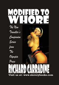 cover design for the book entitled Modified To Whore