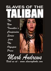 cover design for the book entitled Slaves Of The Taliban
