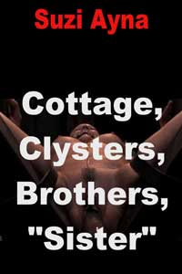 "cover design for the book entitled Cottage, Clysters, Brothers, ""sister"""