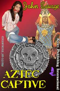 cover design for the book entitled Aztec Captive