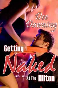 cover design for the book entitled Getting Naked At The Hilton