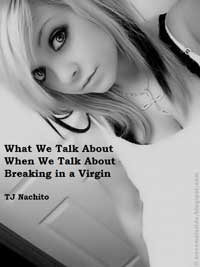 cover design for the book entitled What We Talk About When We Talk About Breaking In A Virgin