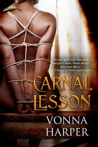 cover design for the book entitled Carnal Lesson