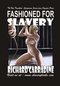 cover design for the book entitled Fashioned For Slavery