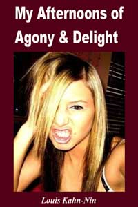 cover design for the book entitled My Afternoons Of Agony And Delight