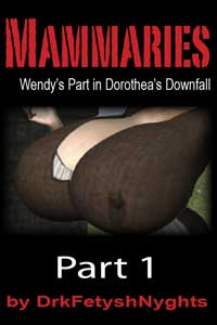 cover design for the book entitled Mammaries - Wendy