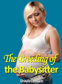 cover design for the book entitled The Breeding Of The Babysitter