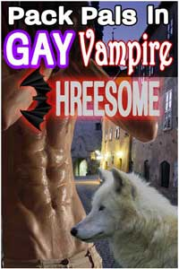 Pack Pals In Gay Vampire Threesome