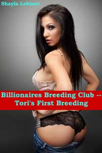 cover design for the book entitled Billionaires Breeding Club - Tori