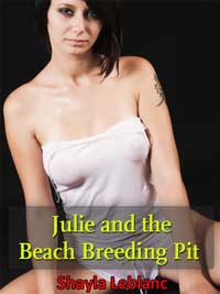 cover design for the book entitled Julie And The Beach Breeding Pit