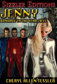 cover design for the book entitled Jenny - Bondage In The Year 2035