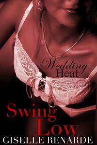 cover design for the book entitled Wedding Heat: Swing Low (bdsm Menage Erotica)