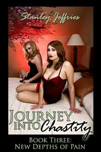 cover design for the book entitled Journey Into Chastity, Book Three: New Depths Of Pain