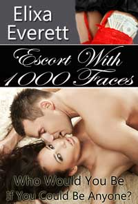 cover design for the book entitled Escort With 1000 Faces: Shapeshifter Erotic Romance