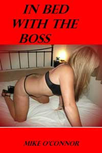 cover design for the book entitled In Bed With The Boss