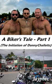 cover design for the book entitled A Biker`s Tale - Part 1 (The Initiation Of Danny Challetts)