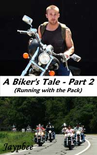 cover design for the book entitled A Biker