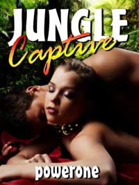 cover design for the book entitled Jungle Captive