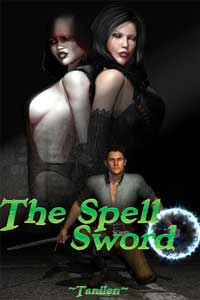 cover design for the book entitled The Spellsword