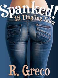 cover design for the book entitled Spanked
