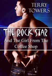 cover design for the book entitled The Rock Star And The Girl From The Coffee Shop