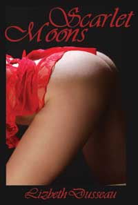 cover design for the book entitled Scarlet Moons