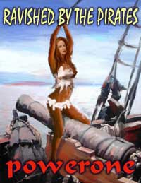 cover design for the book entitled Ravished By The Pirates