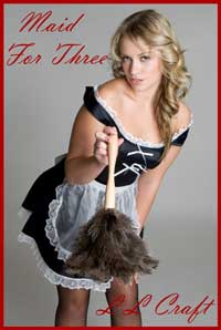 cover design for the book entitled Maid For Three