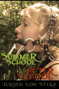 cover design for the book entitled Summer School & After School: The Ponygirl Omnibus Edition