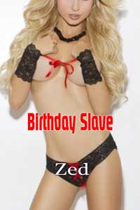 cover design for the book entitled Birthday Slave